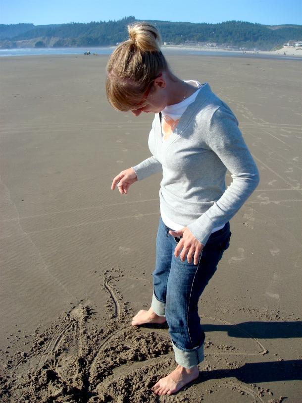 Photo of Molly taken during Justin and Joy's trip to Cannon Beach in August 2007