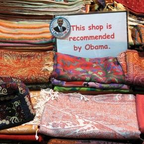 Obama gets around