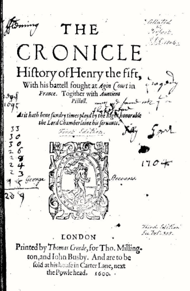 Henry V title page